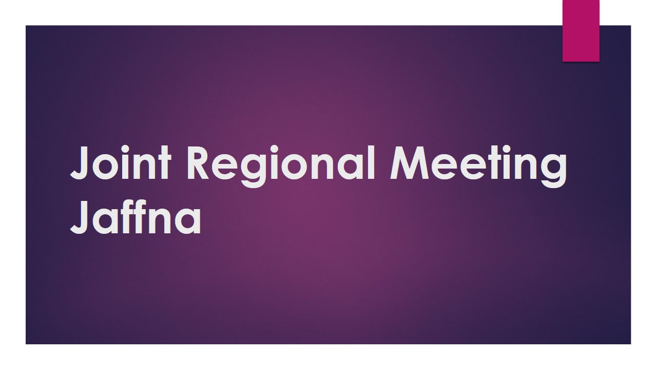 Joint Regional Meeting Jaffna