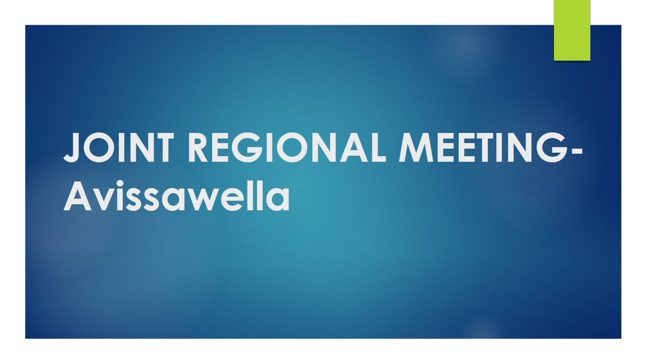 Joint Regional Meeting – Avissawella