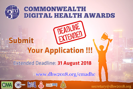 Commonwealth Digital Health Awards : Submission Deadline Extended !