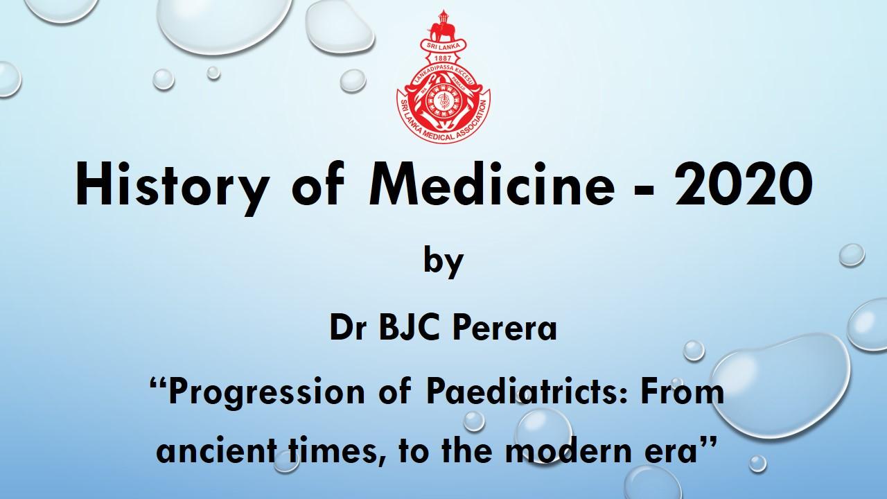 History of Medicine – 2020