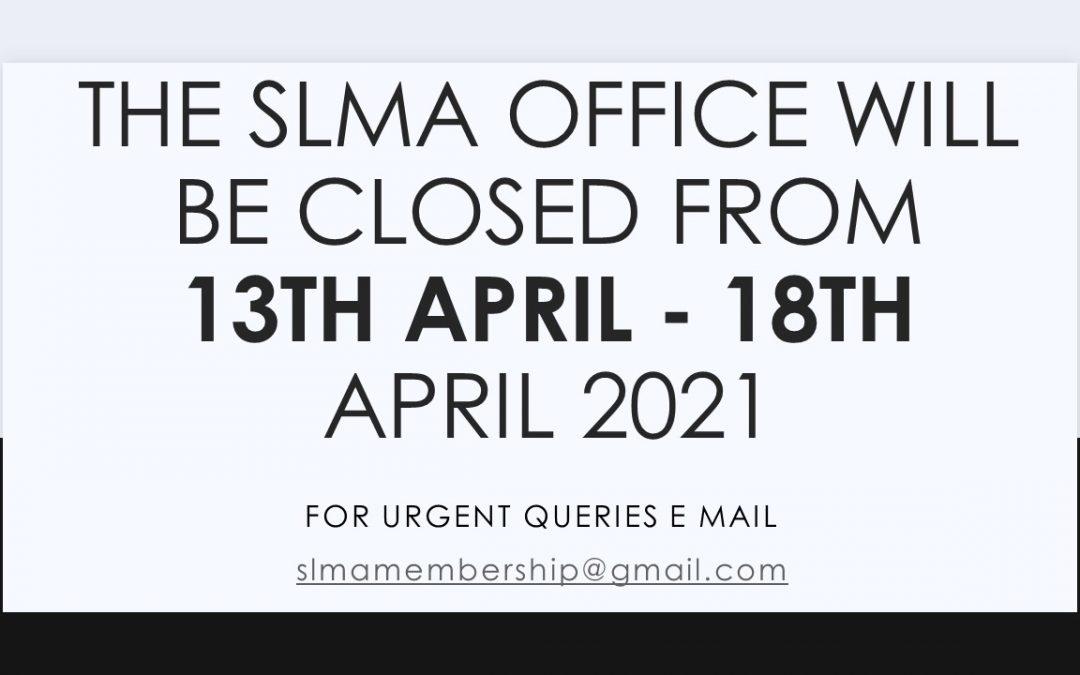 Notice office close